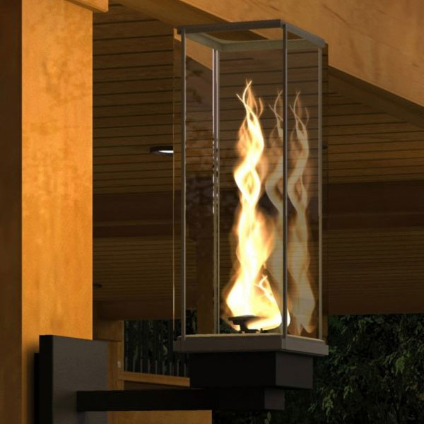 Outdoor Fireplace Family Image