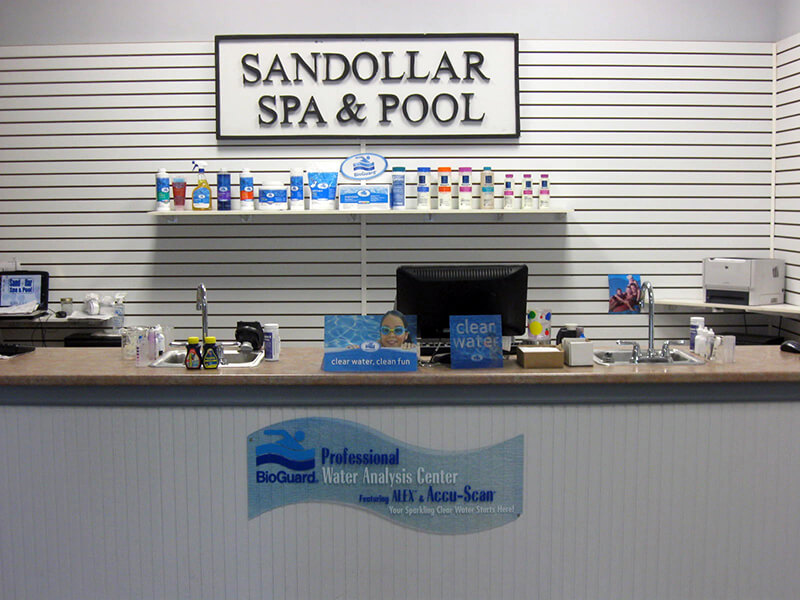 Water testing at Sandollar Spa and Pool
