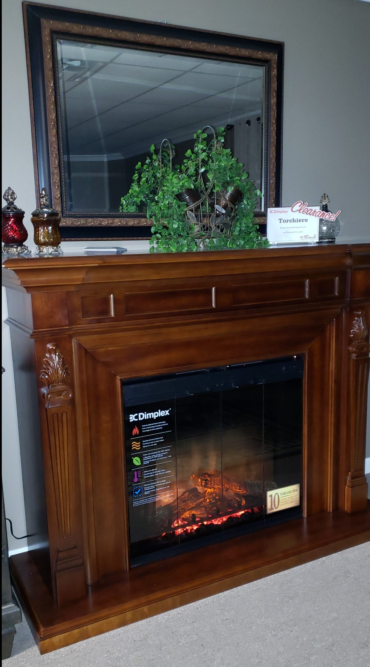 Clearance on Dimplex Electric Fireplaces – click for more photos!