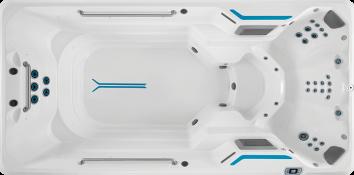 Overhead closeup of affordable X500 swim spa