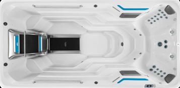 Overhead closeup of affordable E500 swim spa