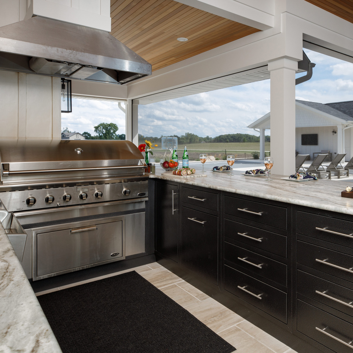 Ultimate outdoor kitchen built in grill