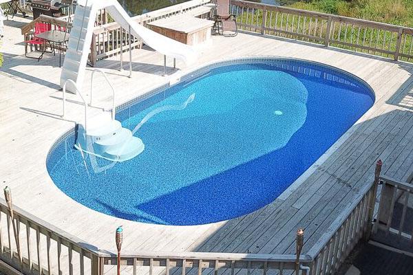 Stealth Semi-Inground Pools Family Image