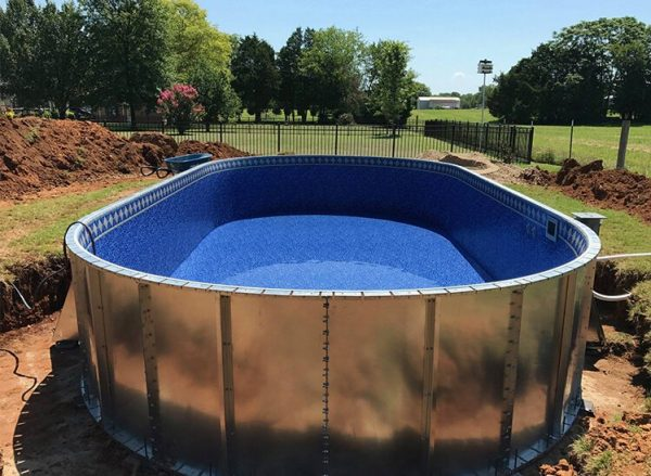 Stealth Pools | Semi-Inground Steel Frame