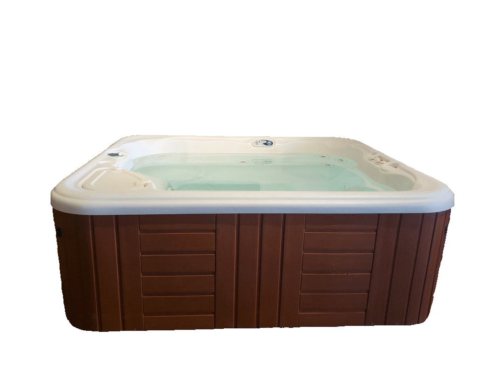 Refurbished Hot Springs Hot Tub Jetsetter with Mocha Shell