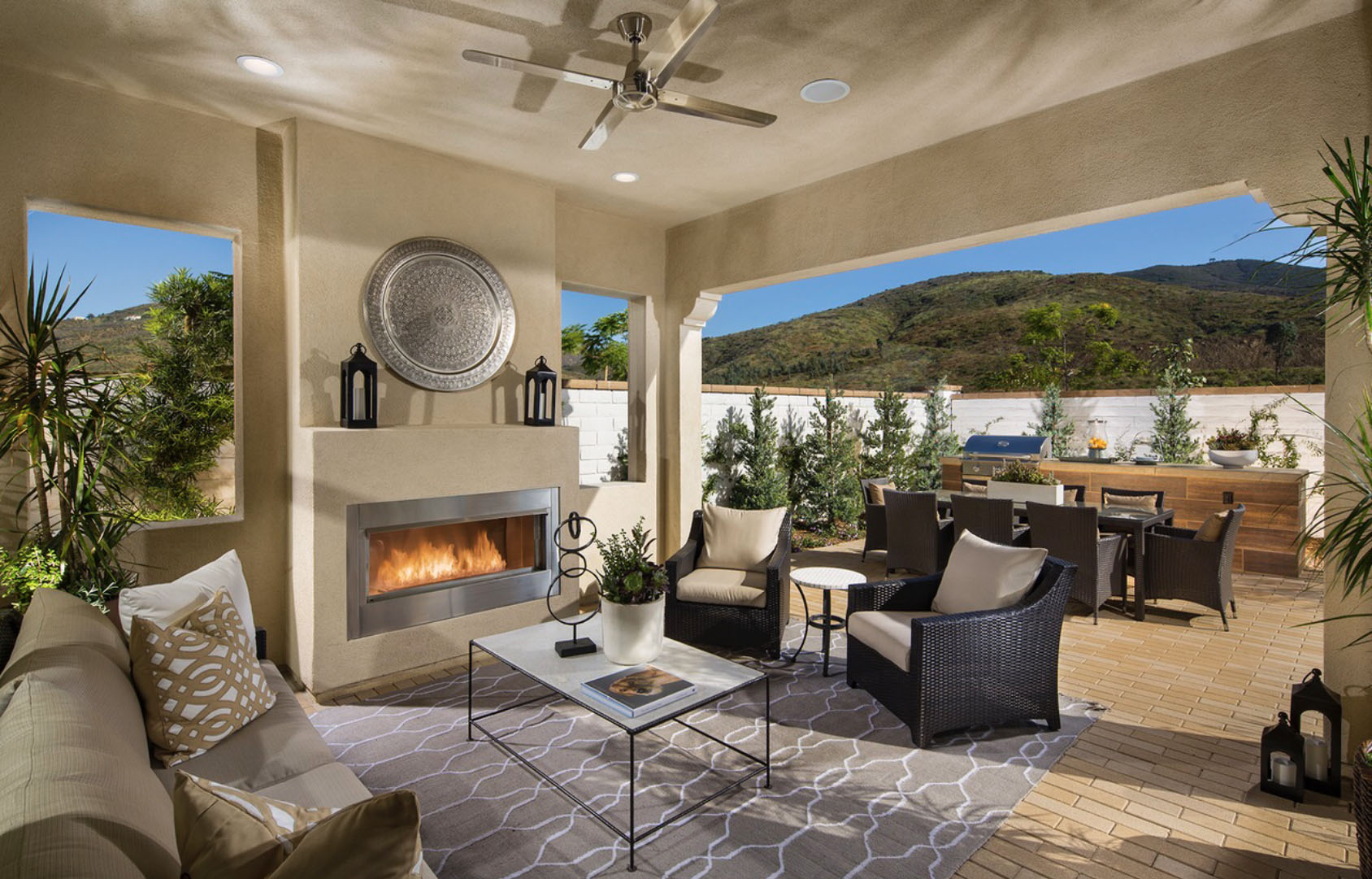 Custom patio cover and outdoor kitchen temecula