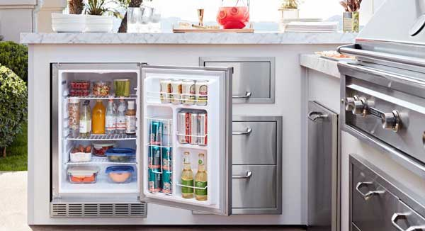 Built-in refrigerator for BBQ Island in Temecula, CA