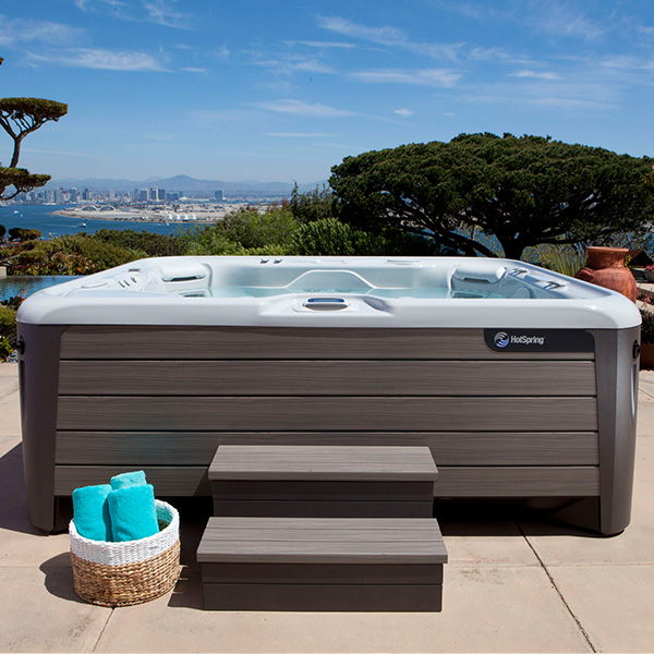 Affordable Hot Spring spa in backyard