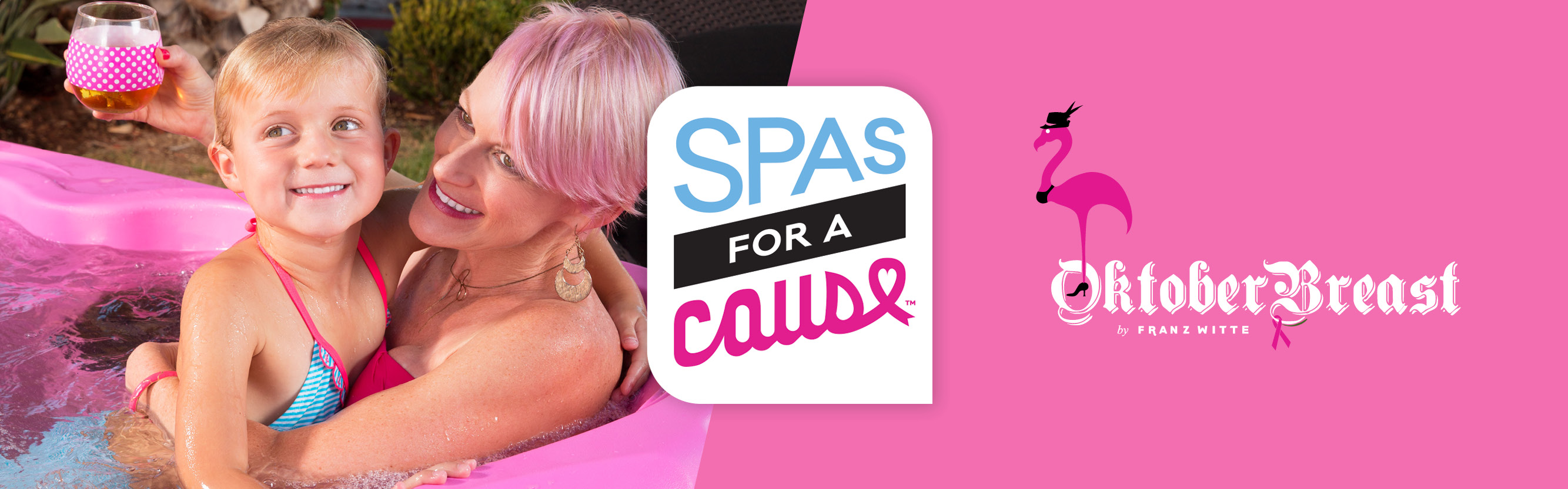 A Pink Hot Tub & Sponsorship for Franz Witt's Octoberbreast
