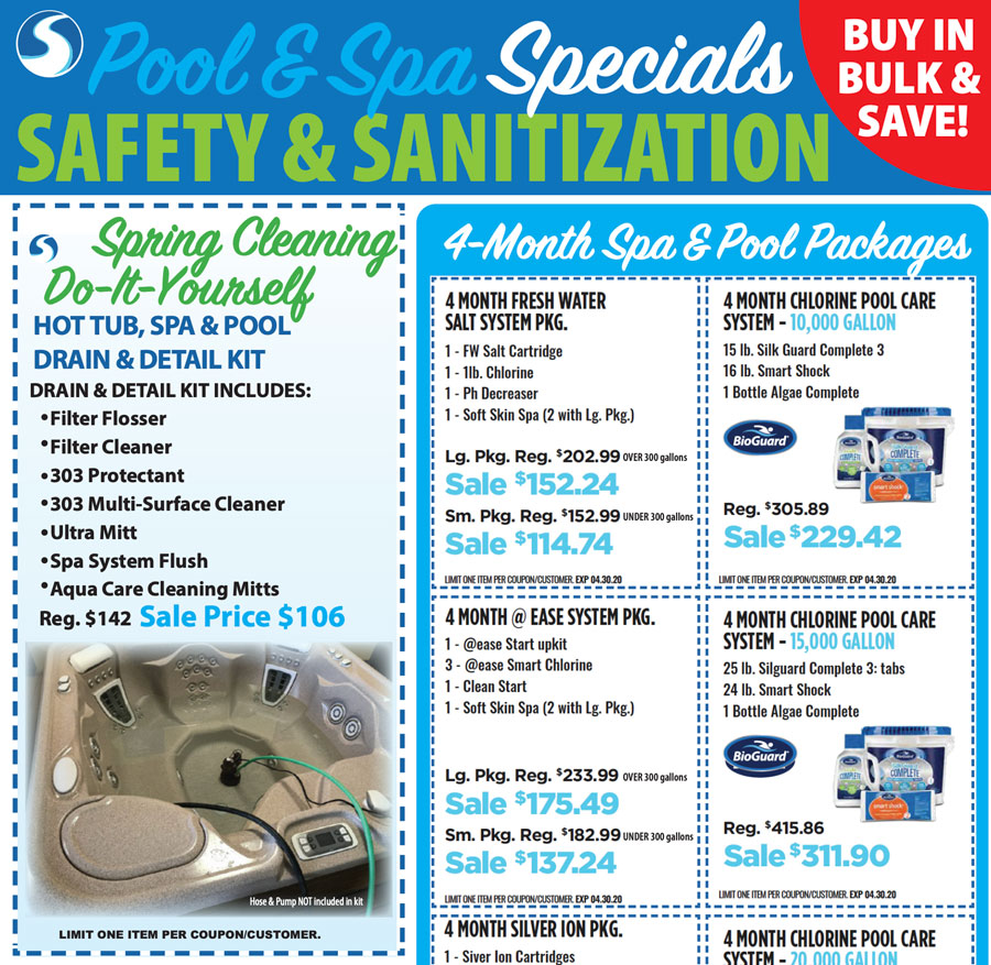 Safety and Sanitation Pool and Spa Specials
