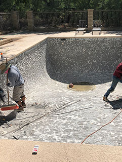 Renovation Services - Pool Resurfacing Before