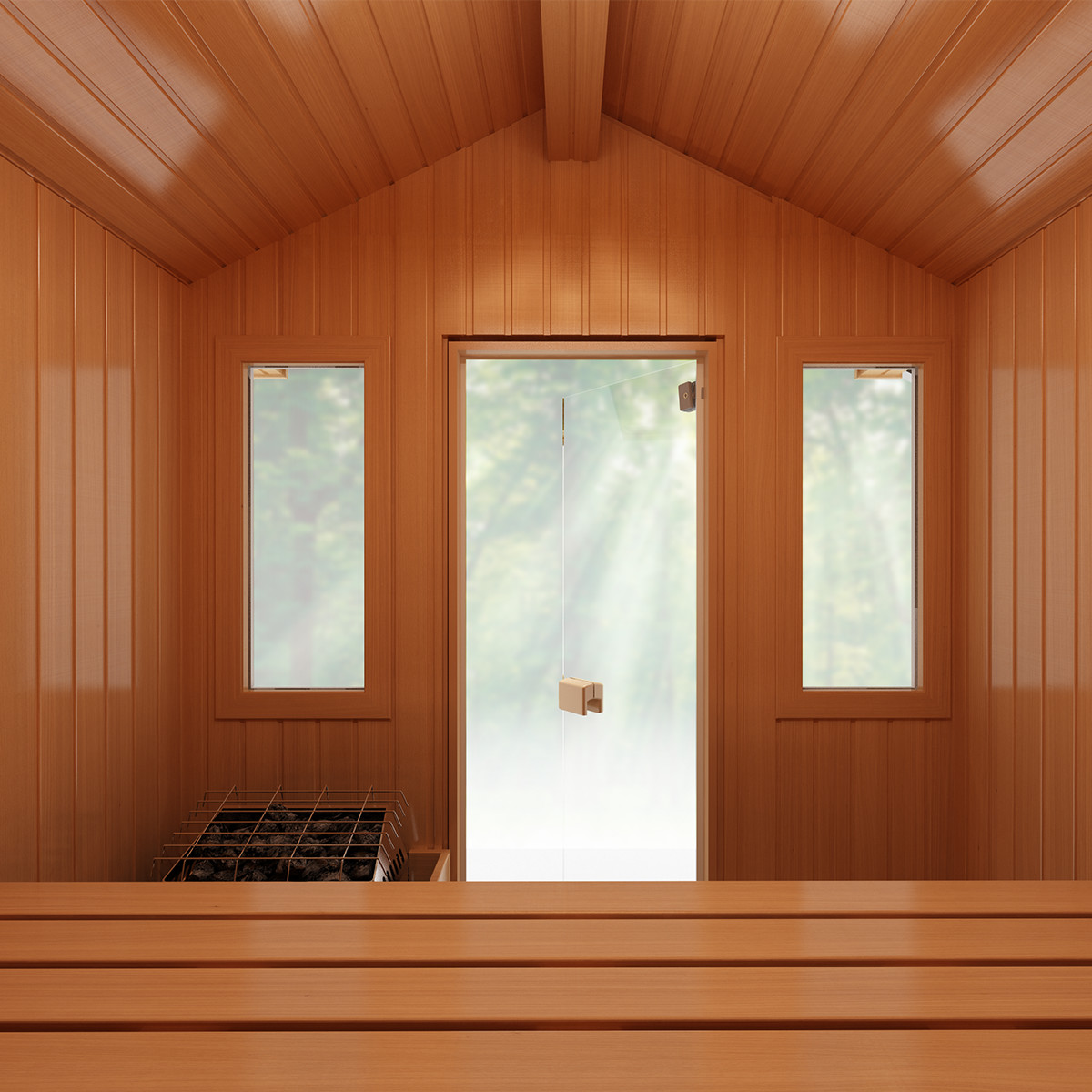 Finnleo Terrace Outdoor Sauna Inside