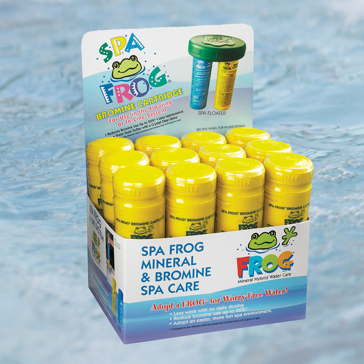 spa frog bromine cartridge 12 pack water works spas