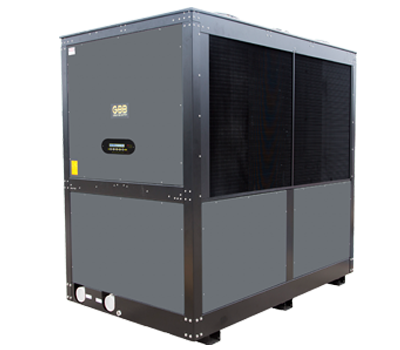 This high performance heat pump heats and cools large commercial swimming pools with up to a half million BTUs in one unit.