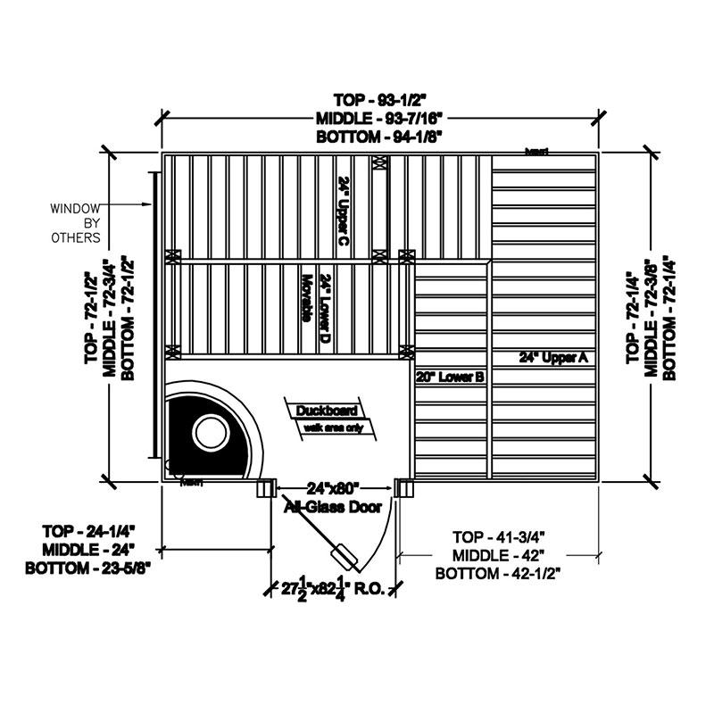 Finnleo Custom Cut Sauna Diagram