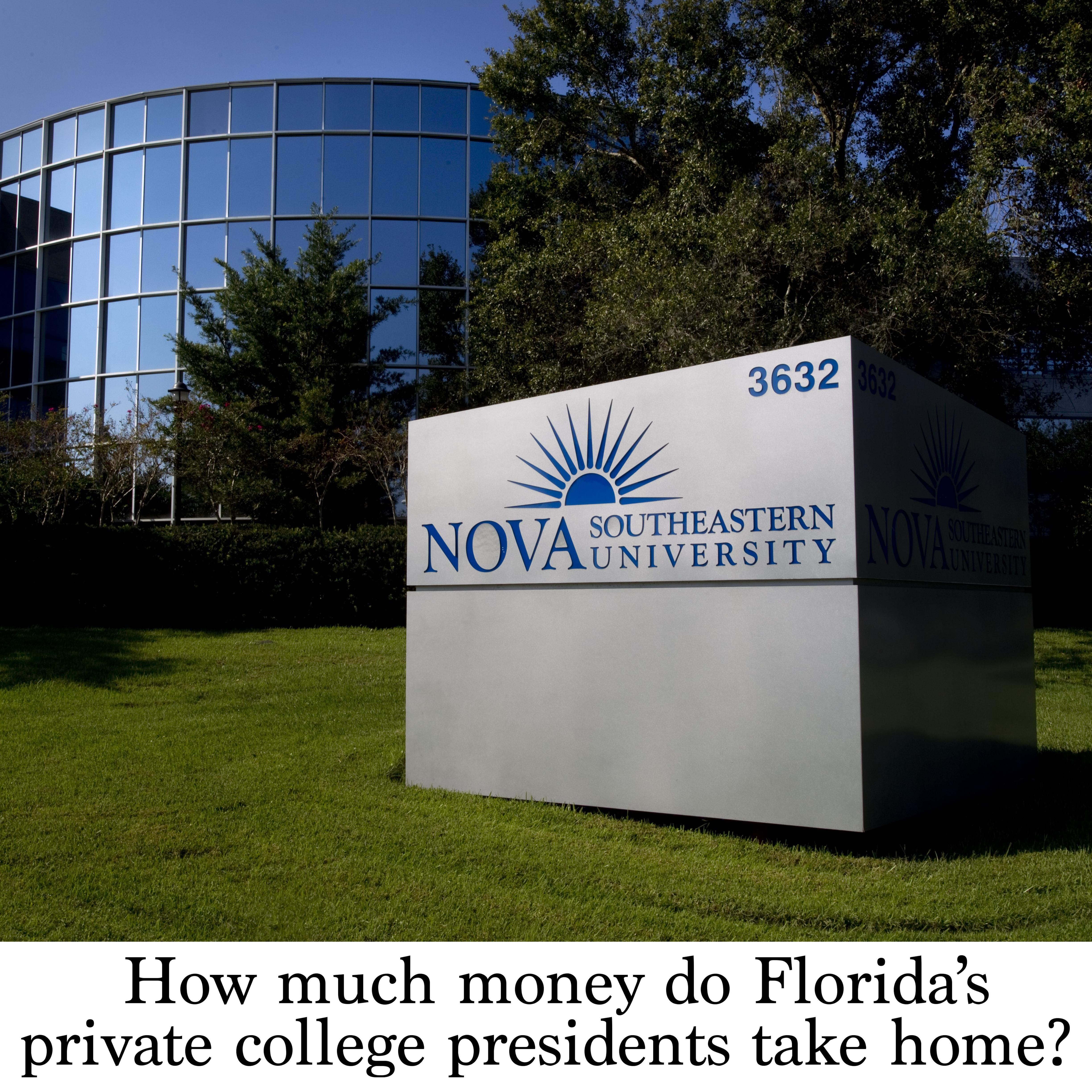 How much money do Florida's private college presidents take