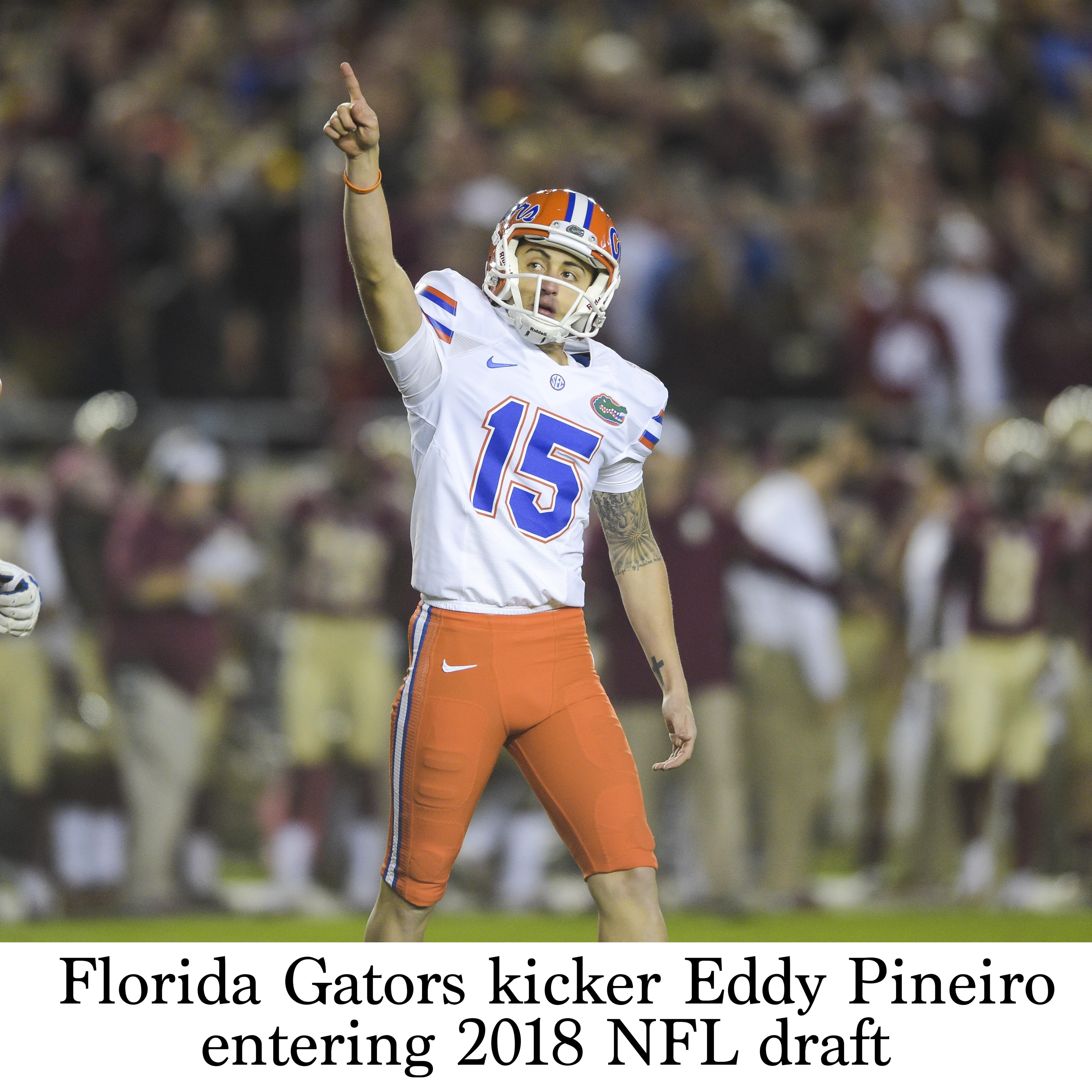 timeless design fc14a a7e1b Florida Gators kicker Eddy Pineiro entering 2018 NFL draft