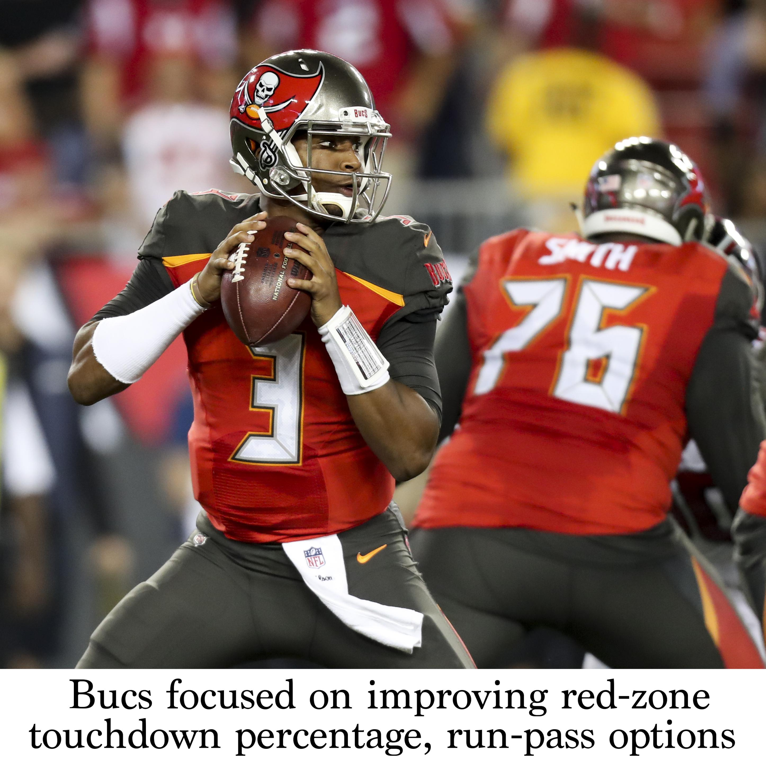 Bucs Focused On Improving Red Zone Touchdown Percentage Run Pass