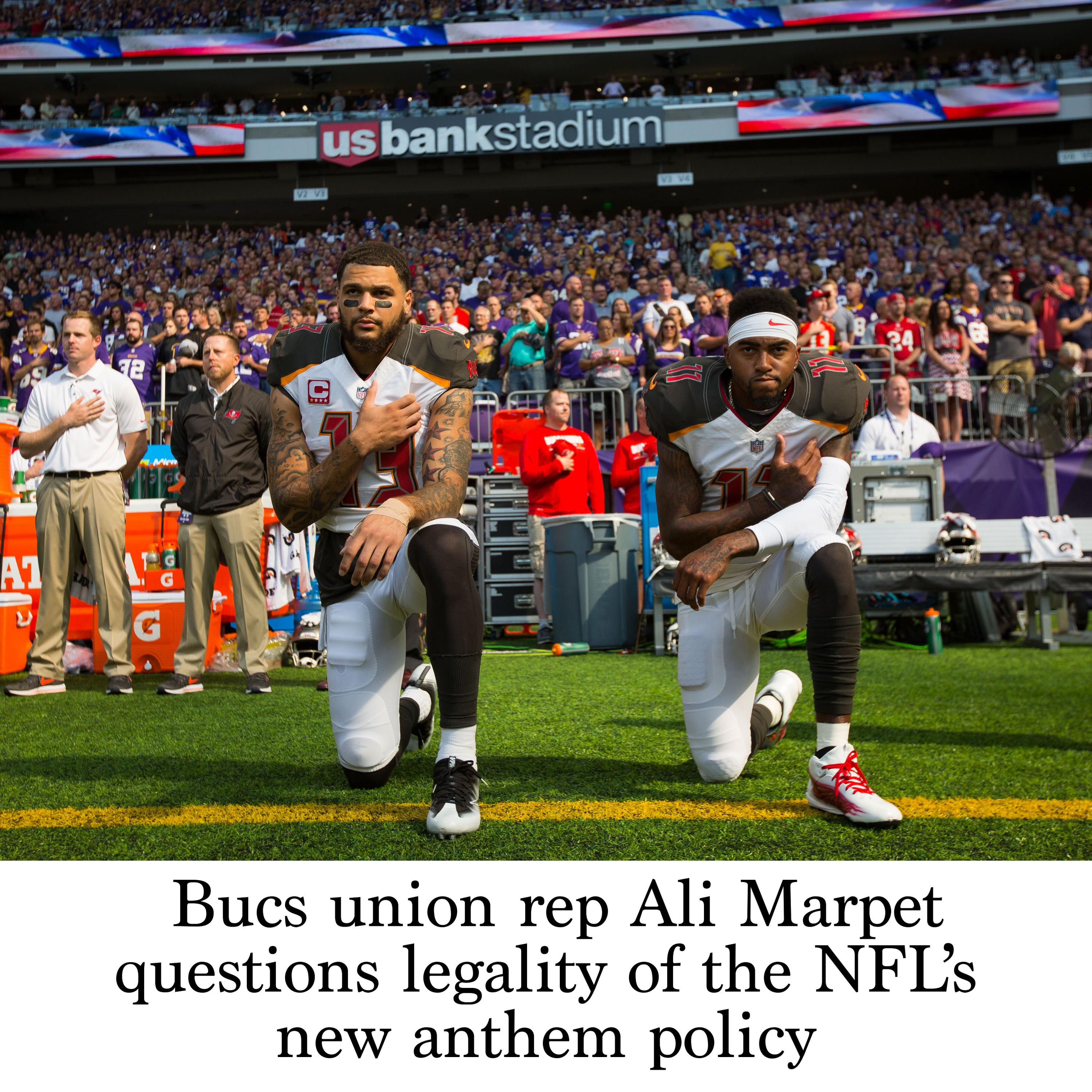 timeless design 9d808 2eae8 Bucs union rep Ali Marpet questions legality of the NFL's ...