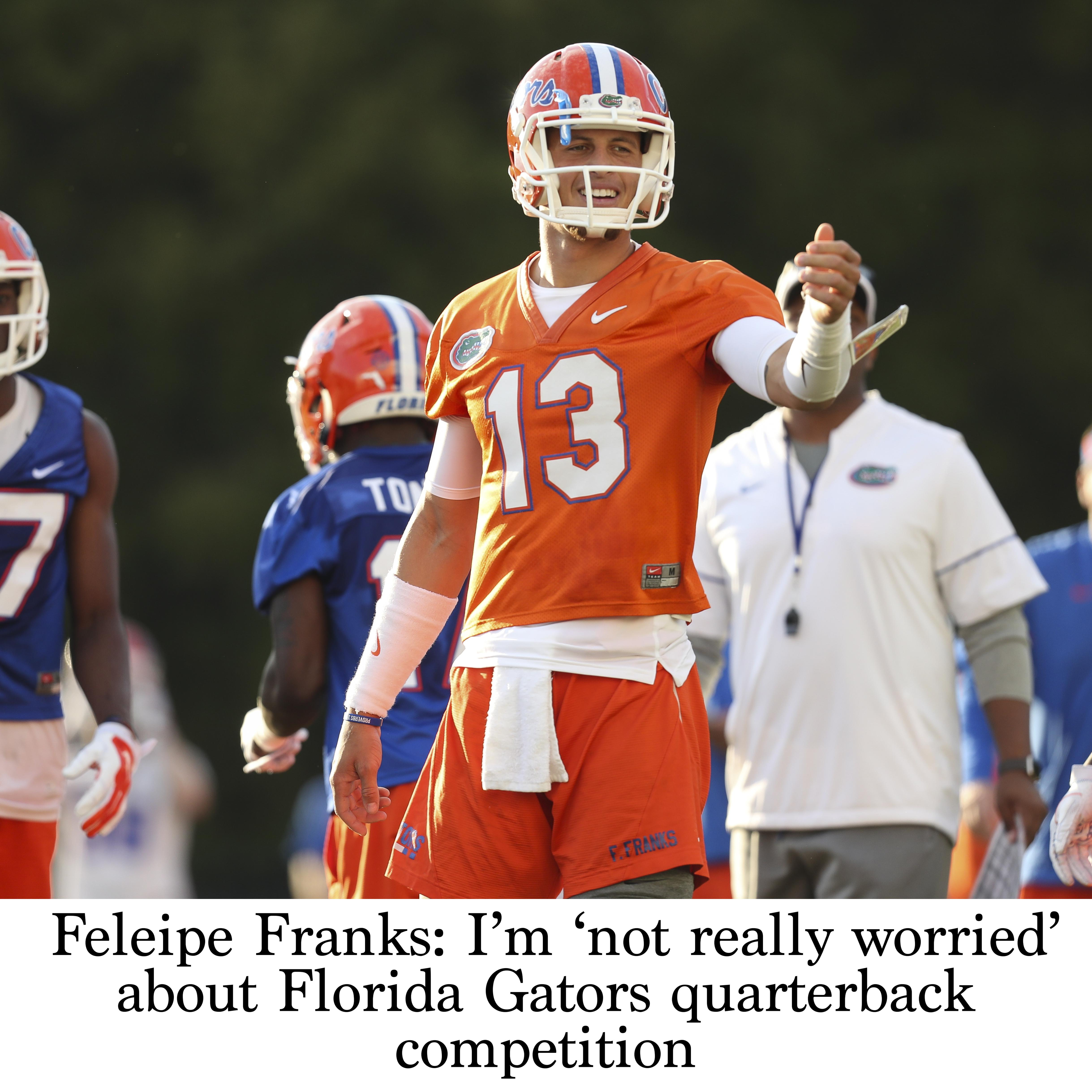 online store 9221d 639b2 Feleipe Franks: I'm 'not really worried' about Florida ...