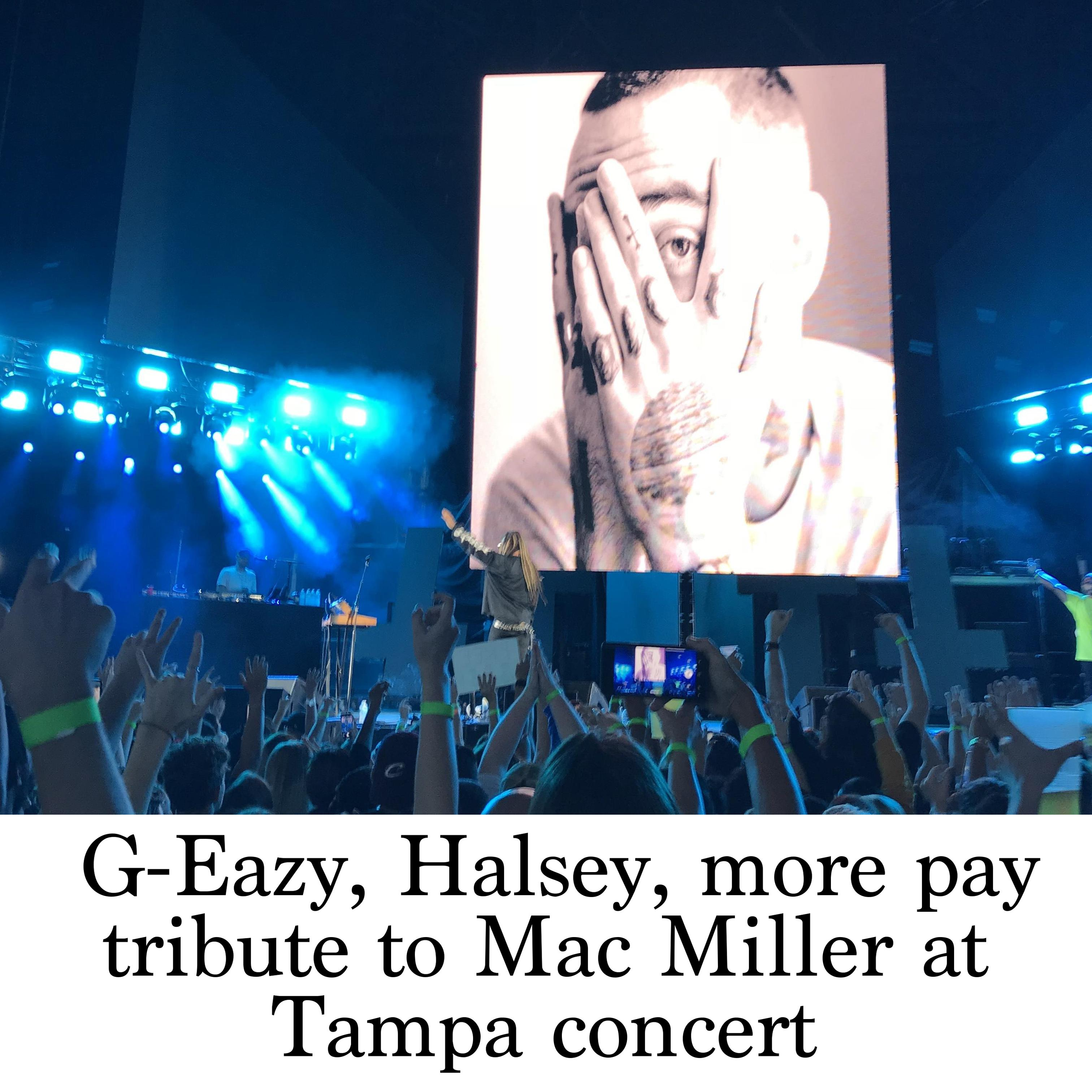 G-Eazy, Halsey, more pay tribute to Mac Miller at Tampa concert