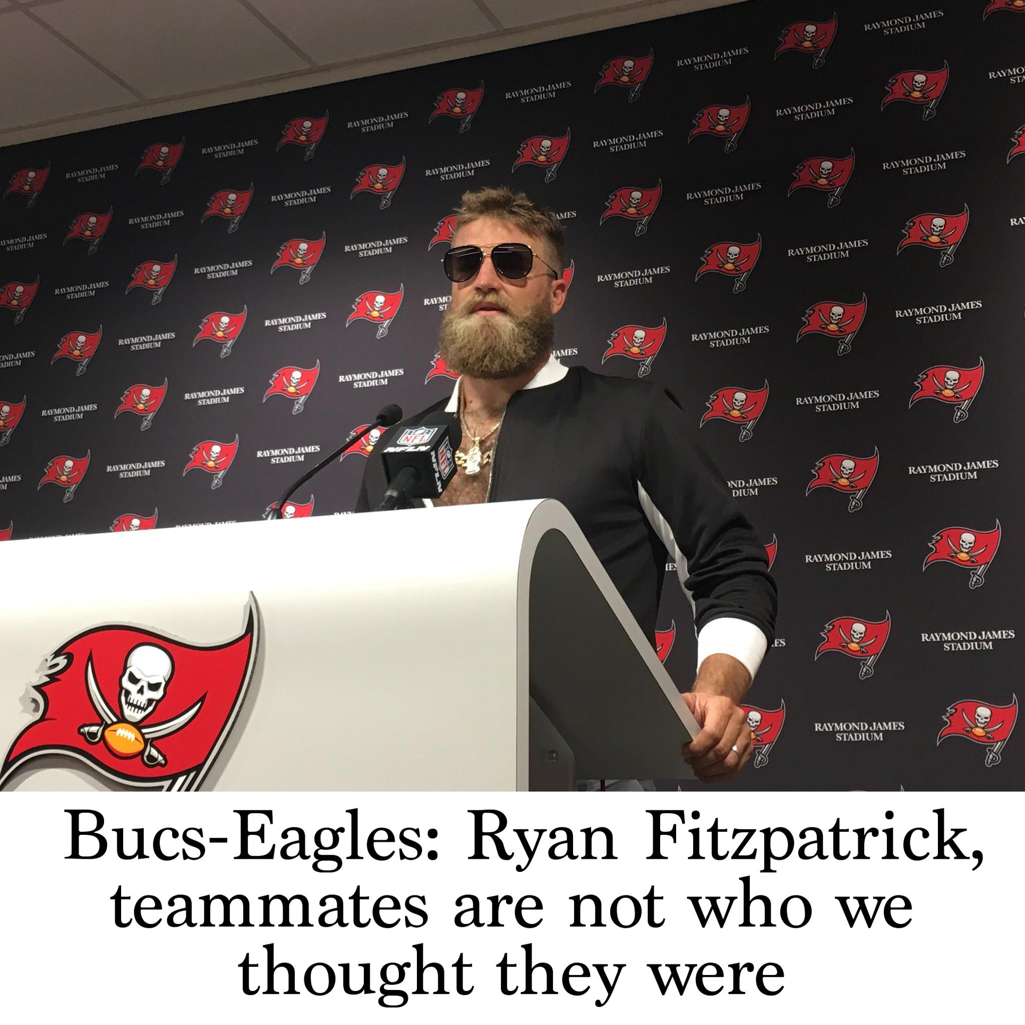 huge discount 62976 9b168 Bucs-Eagles: Ryan Fitzpatrick, teammates are not who we ...