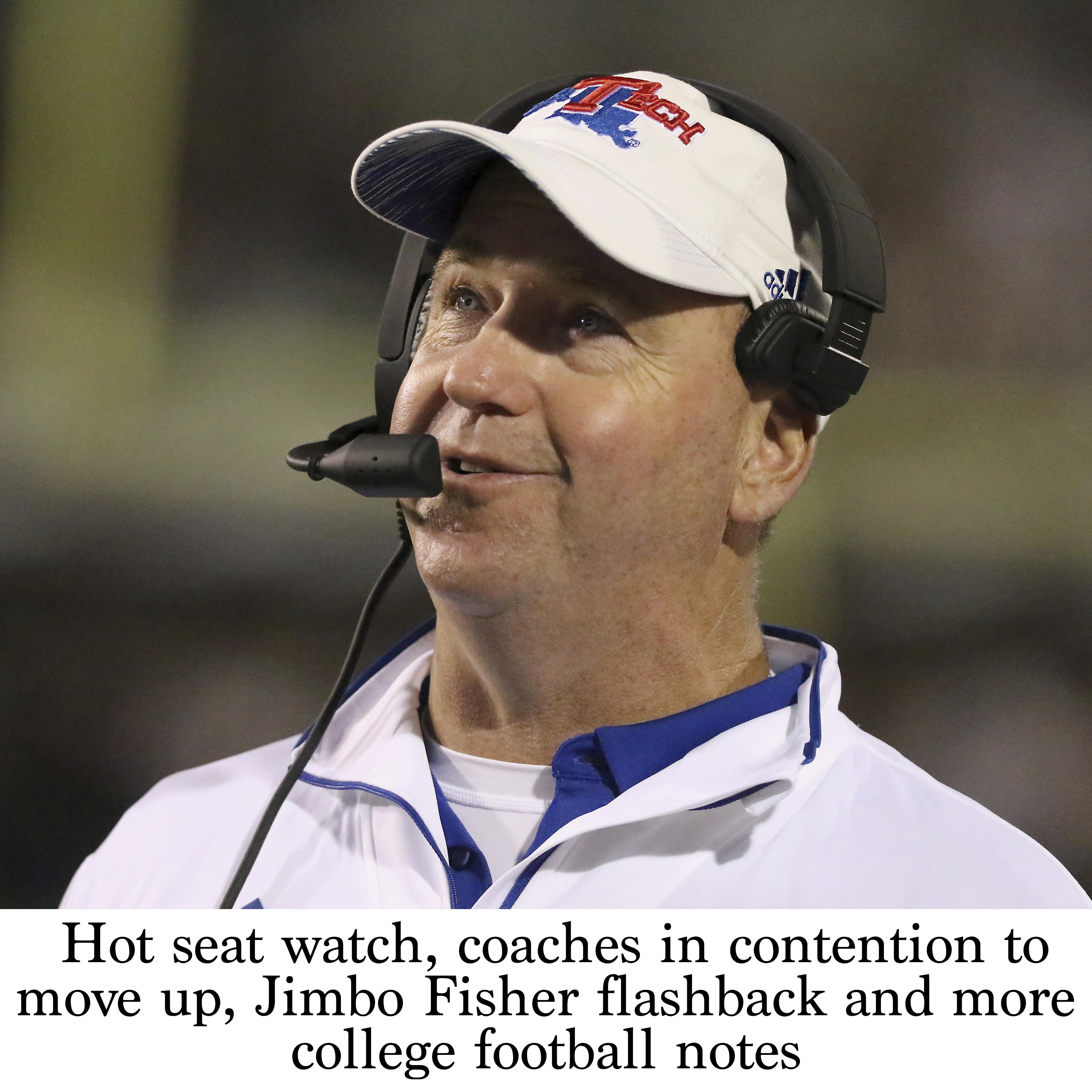 Hot Seat Watch Coaches In Contention To Move Up Jimbo Fisher Flashback And More College Football Notes