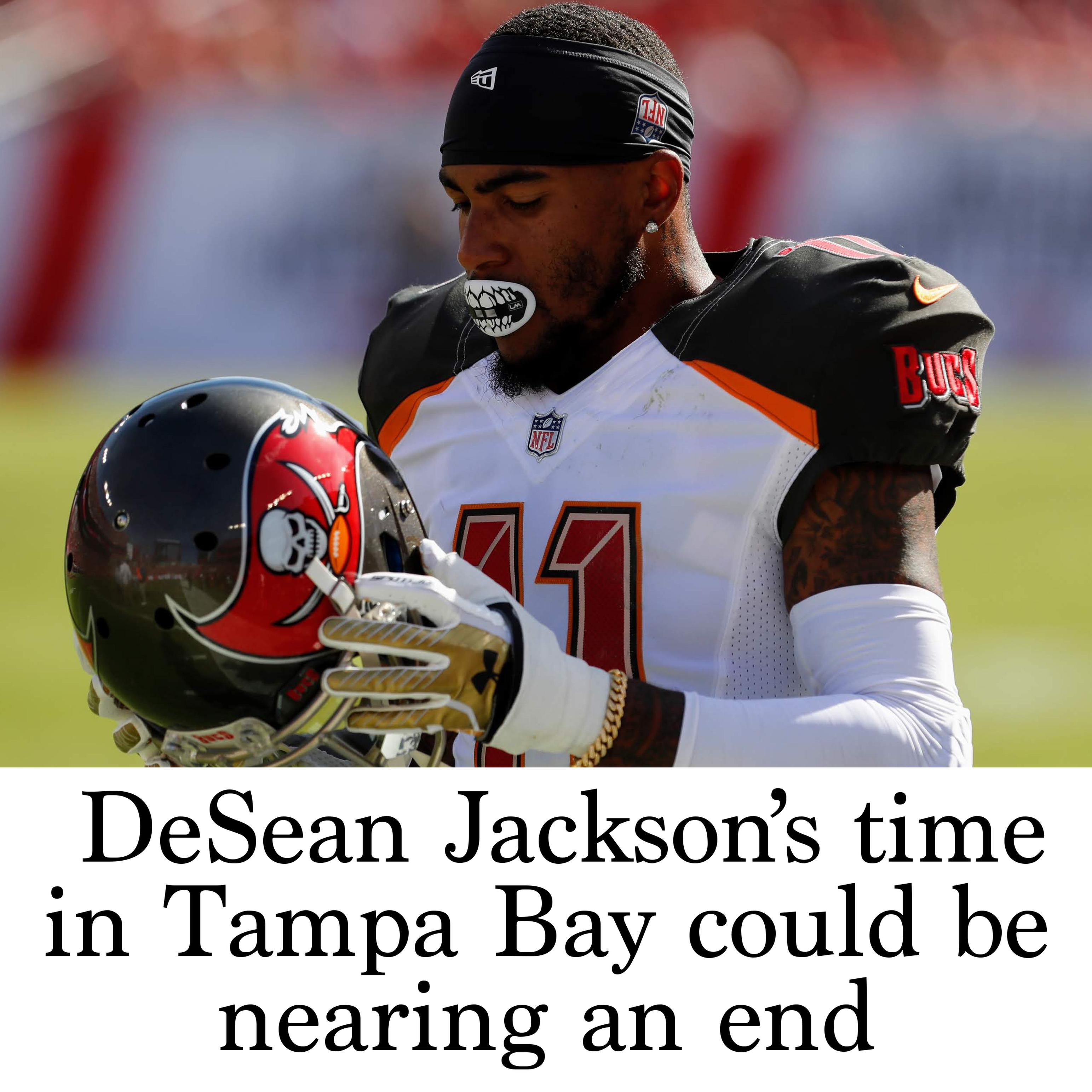 the latest ce5e7 28465 DeSean Jackson's time in Tampa Bay could be nearing an end