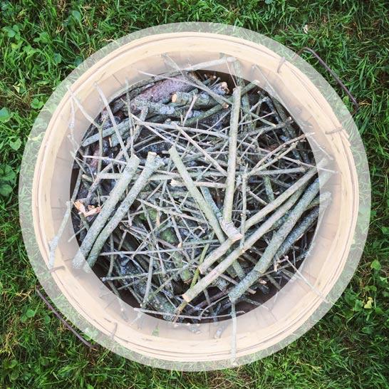 Basket of Kindling and Futura Medium