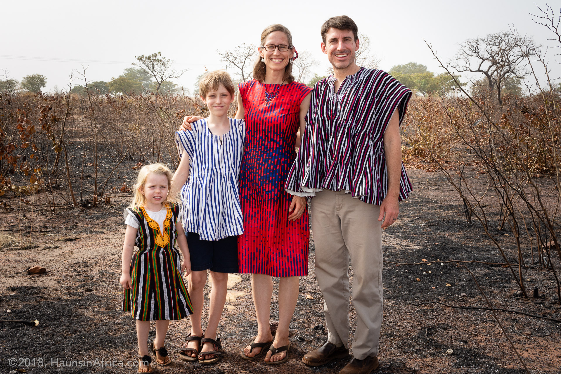 The Haun Family in northern Ghana on Christmas Day 2018.