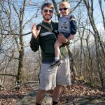 William and Trey at the peak of Black Rock Mountain - Photo by Heidi Haun