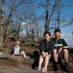 The Haun family at the top of Black Rock Mountain near Clayton, GA