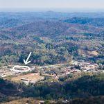 Clayton, GA below Black Rock Mountain - Our hotel is circled