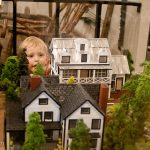 Trey checks out a model of the town of Tallulah Falls circa 1850