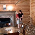 Heidi and Trey tour the lodge at Traveler's Rest Historic Site
