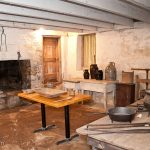The kitchen in the basement of the lodge at Traveler's Rest Historic Site