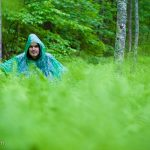Jym in the ferns of the forest at Amicalola Falls State Park