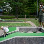 Trey & Kenny on the putt-putt course at Vogel State Park