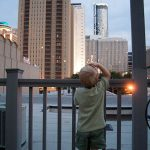 Trey checks out the view from the top of Social in downtown Atlanta