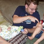 Getting tickled back by Uncle Jon