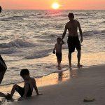 The boys at the beach