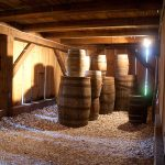 Barrels of gun powder were stored in the basement