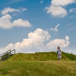 Trey heads up to the Great Temple Mound