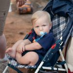 Hudson Crosby of Macon, GA hangs out at the Hauns' celebration cookout at High Falls State Park. William Haun and his 2 year-old son Trey visited all 63 of Georgia's State Parks and Historic Sites from July 2008 to July 2009.
