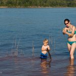 Playing in the water of Clarks Hill Lake