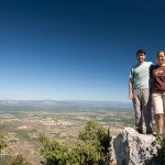 William & Heidi atop Pic St. Loup for the 2nd time. They first climbed the mountain in 2002 with the Darriets.