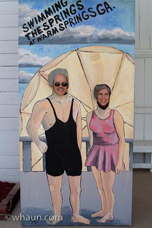 Roger & Sarah as Franklin & Eleanor