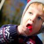 Causey Crosby enjoys a lolipop