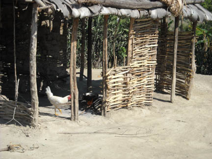 Most of the houses in the outlying villages rely on outdoor kitchens such as this for the preparation of meals.
