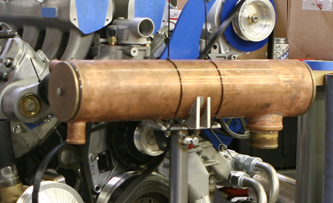 Heat exchanger built specifically for upcoming R&D.